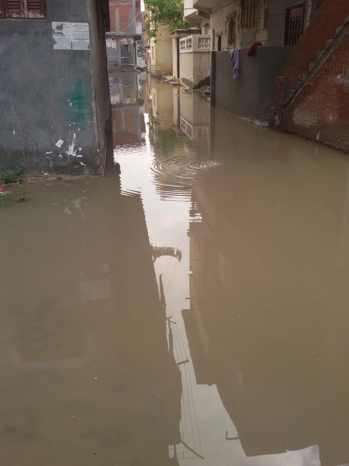 تواصل أزمة الأمطار والصرف بكفر الدوار.. والمياه تغمر المنازل