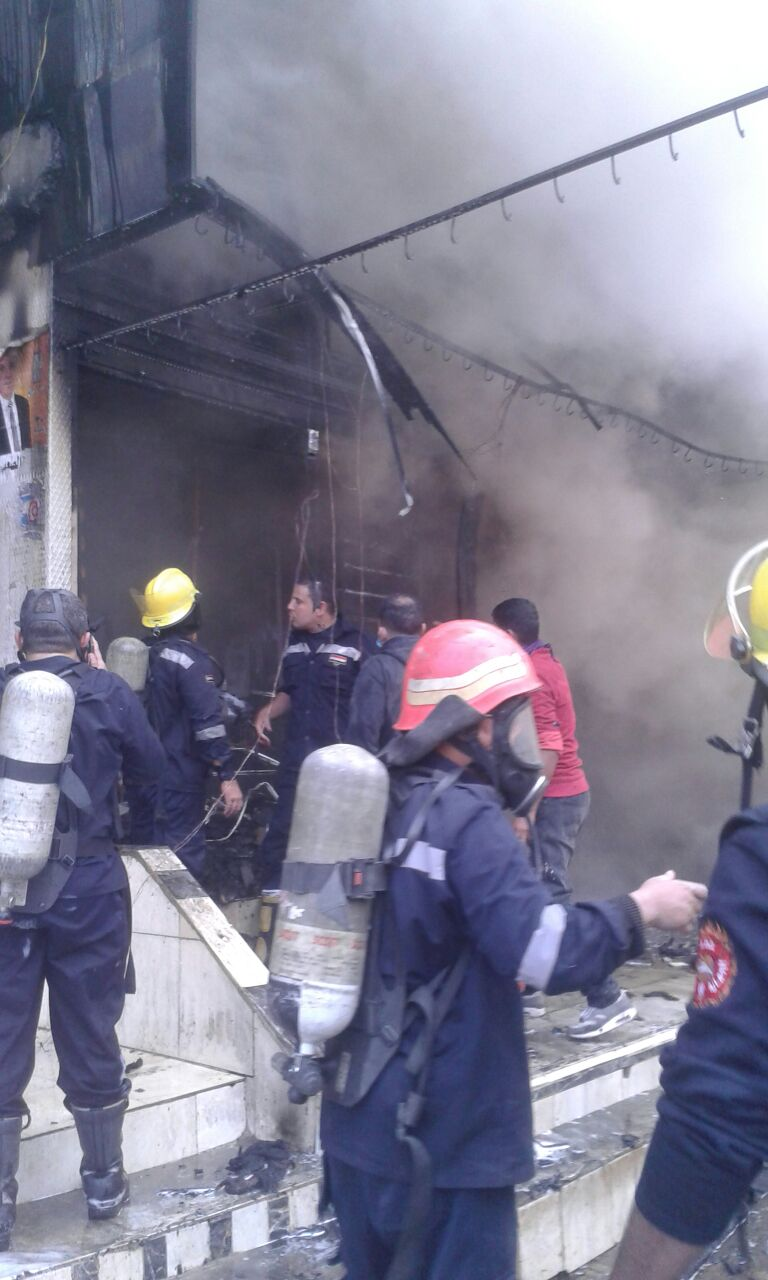 حريق هائل بأوسيم وإخلاء عقار.. و15 سيارة إطفاء للسيطرة عليه