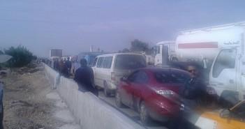 متضررون من الأمطار يقطعون طريق القاهرة ـ الإسكندرية الصحراوي أكثر من 3 ساعات