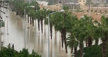 برج العرب الجديدة مازالت غارقة في مياه الأمطار