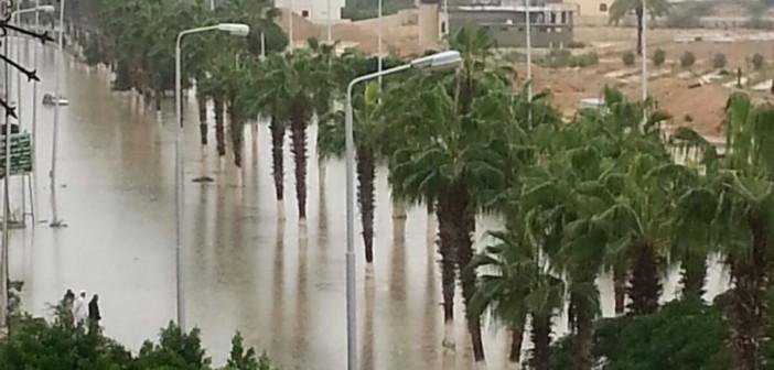 📷| بالصور.. برج العرب الجديدة مازالت غارقة في مياه الأمطار