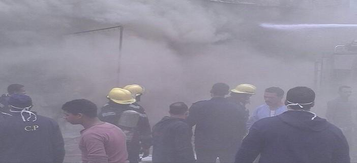 🔥 بالصور.. حريق هائل بأوسيم وإخلاء عقار.. و15 سيارة إطفاء للسيطرة عليه