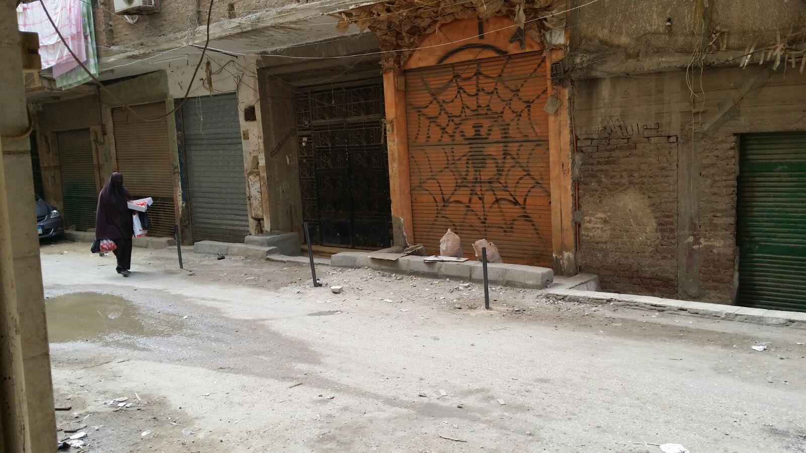 إشغالات في شارع الصناديلي بالجيزة تعرقل حركة المواطنين والسيارات