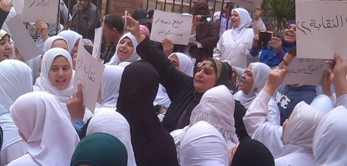 📷| مظاهرة للتأمين الصحي بشبرا من أجل الكادر والمساواة بـ«الصحة»