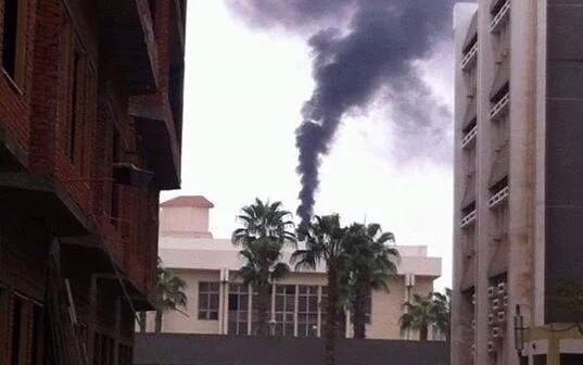📷| بالصور.. مشاهد تلوث محرقة مستشفى طنطا الجامعي