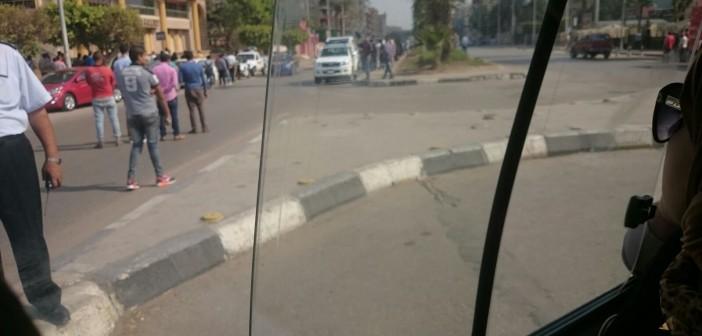 اشتباه في وجود قنبلة بشارع الهرم.. وإغلاق الطريق من المريوطية لنادي الضباط 📷