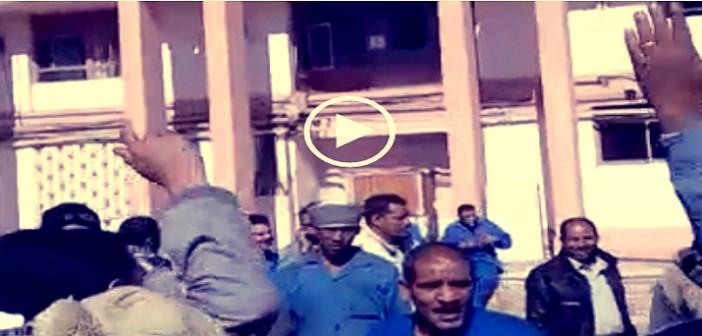 ▶| بالفيديو.. اعتصام عمال «مصر للألومنيوم» بقنا لإقالة قيادات الشركة