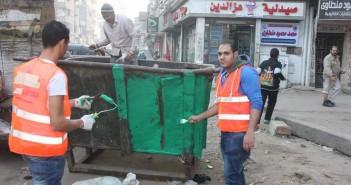 شباب يدشنون حملة لتنظيف وتجميل حي المطرية
