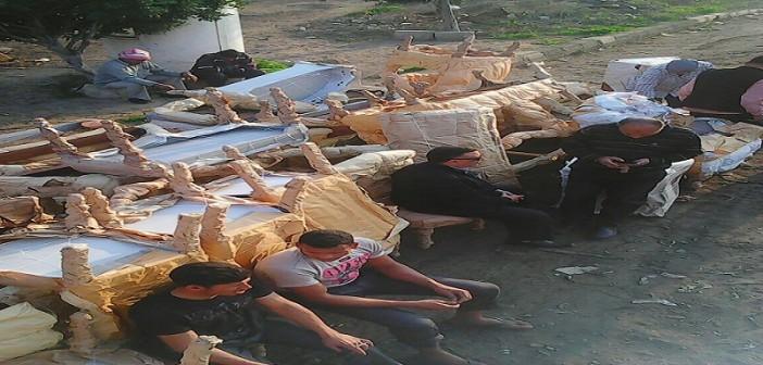 بالصور.. ما بعد الاشتباه.. تدمير صناعة الأثاث في دمياط لـ«دواع أمنية»