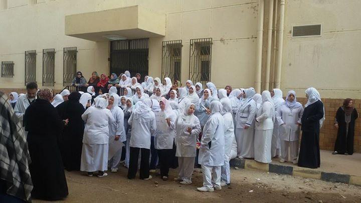 تواصل إضراب التأمين الصحي بالقليوبية للمطالبة بحافز المهن الطبية