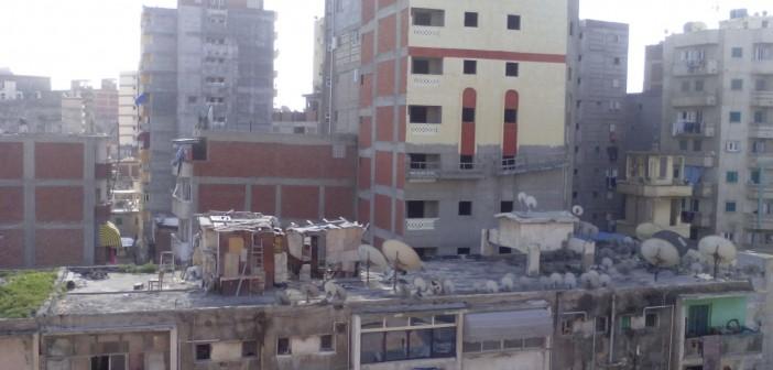 📷| فوضى البناء العشوائي في محرم بك بالإسكندرية