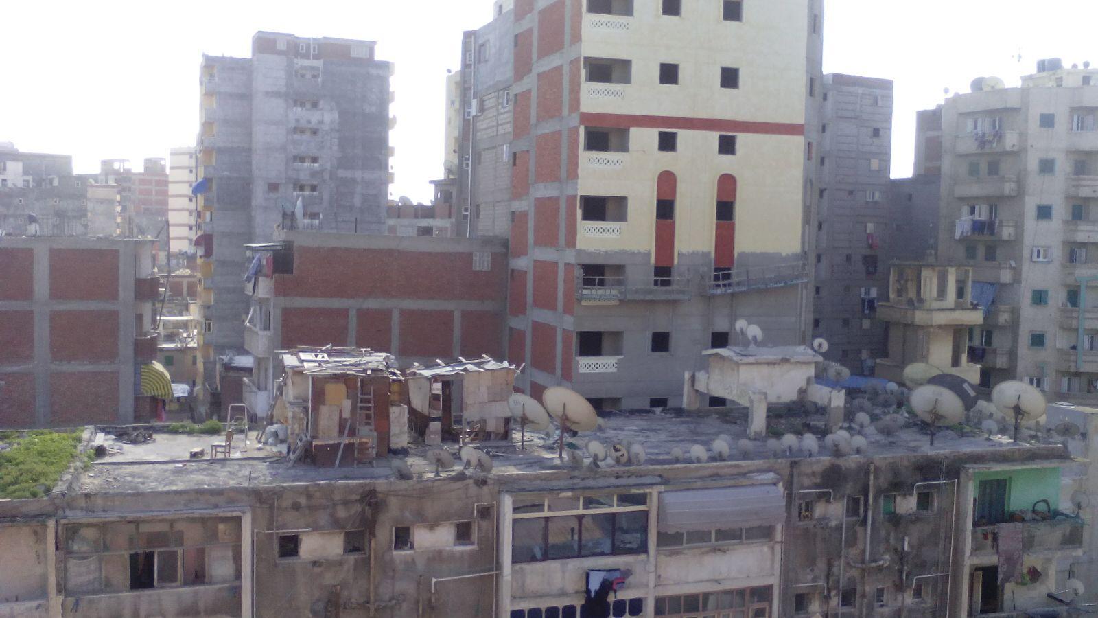 فوضى البناء العشوائي في محرم بك بالإسكندرية