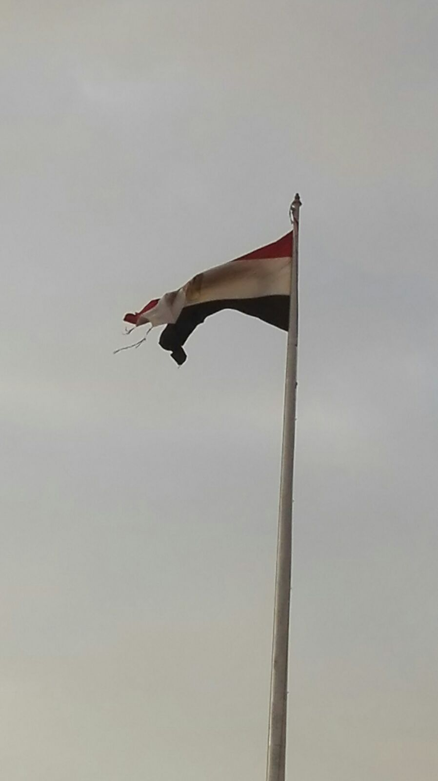 صورة.. تمزق علم مصر في ميدان التحرير