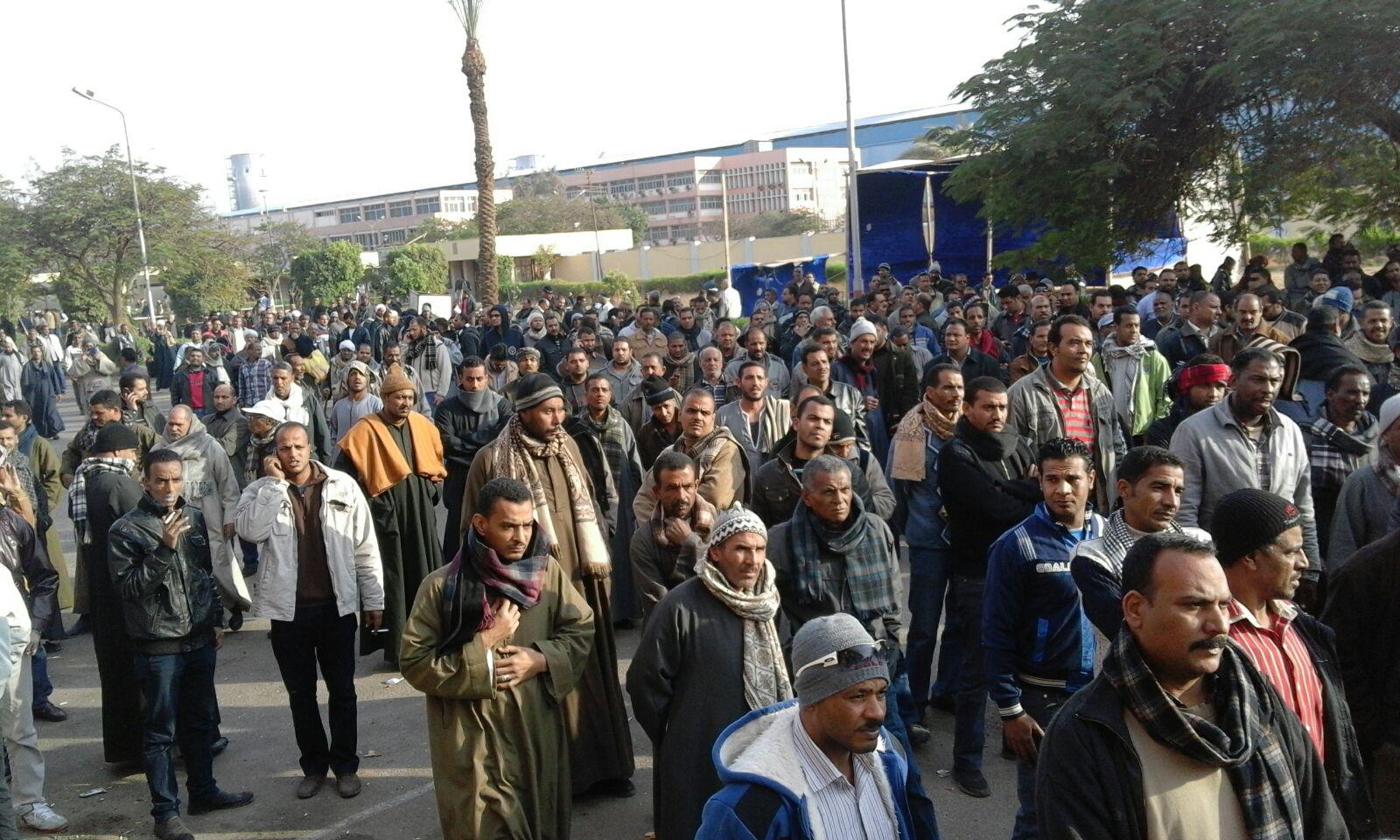بعد 72 ساعة اعتصام.. عمال ألومنيوم نجع حمادي يدخلون في إضراب جزئي
