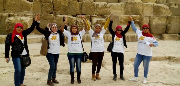 بالصور.. في الأهرامات.. #متحدون_مع_التراث بمشاركة ليلى علوي وعبدالرحمن أبو زهرة