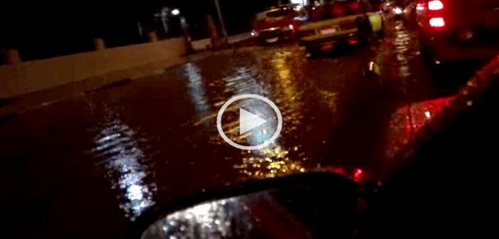 ▶|بالفيديو.. أمطار غزيرة تغرق شوارع في الإسكندرية
