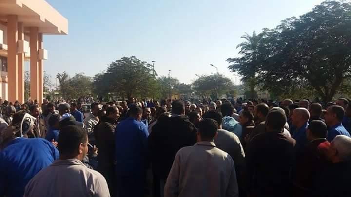 تواصل اعتصام ألومنيوم نجع حمادي.. والعمال يهددون بإضراب تام