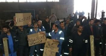 عمال ترسانة السويس يواصلون اعتصامهم المفتوح لليوم الثاني: «مميش»