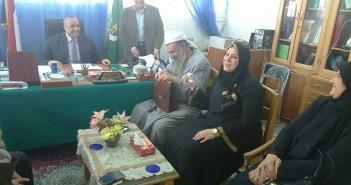 النائبة نوسيلة أبوالعمرو تزور كلية الدراسات الإسلامية