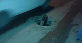 بلاعات صرف تسبب كوارث يومية في شارع ذو الفقار بحلوان
