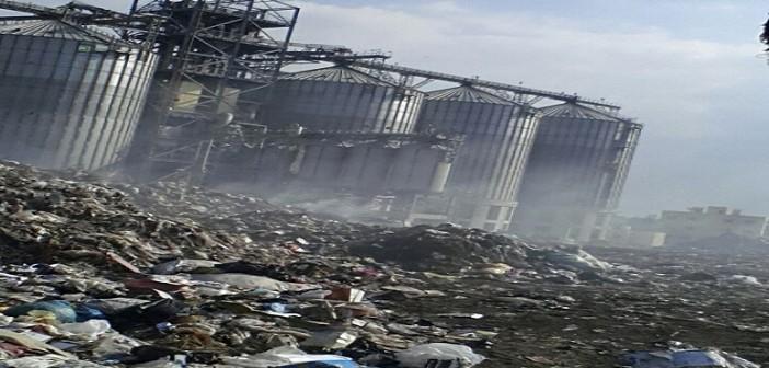 بالصور والفيديو.. جبال القمامة تحاصر صوامع كفر الشيخ.. ومواطن: «استهتار»