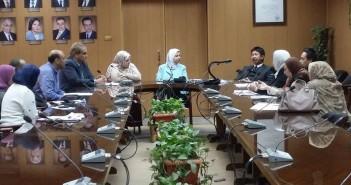 اجتماع لوفد السفارة الماليزية وأساتذة ماليزيين بجامعة المنصورة