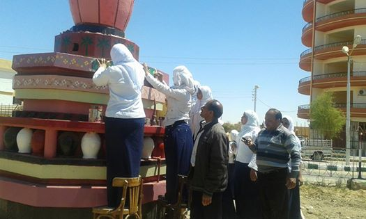 📷| طالبات «الثانوية الفنية» بالوادي الجديد«صنايعية»أثناء اليوم الدراسي