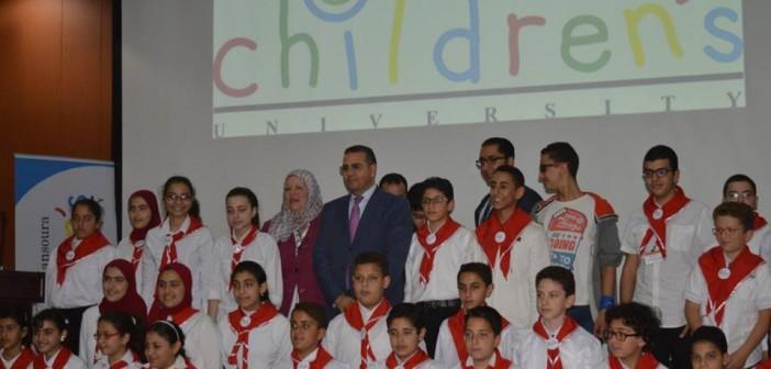 بالصور.. افتتاح المرحلة الثالثة لمشروع جامعة الطفل بالمنصورة