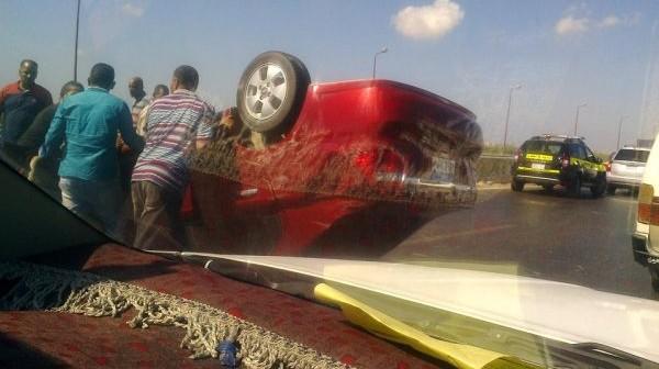 📸مصرع شخص في تصادم نقل وملاكي على طريق الإسكندرية الدولي