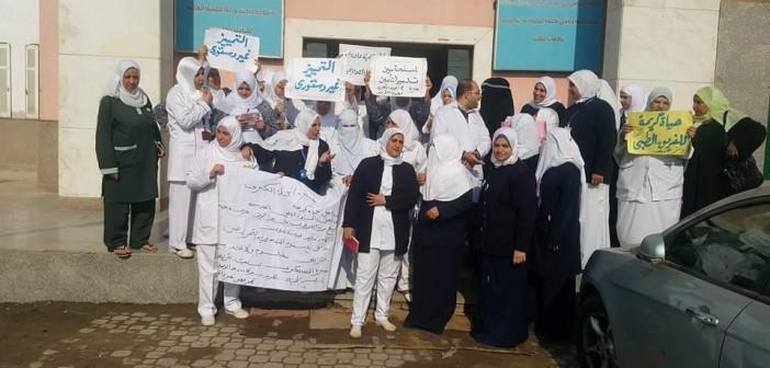 📷| وقفة احتجاجية بمستشفى مبرة المحلة ضد قرار «التقييم» للتأمين الصحي