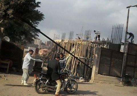 📷| مواطن يرصد عمليات بناء على أرض للأوقاف بمدينة السلام