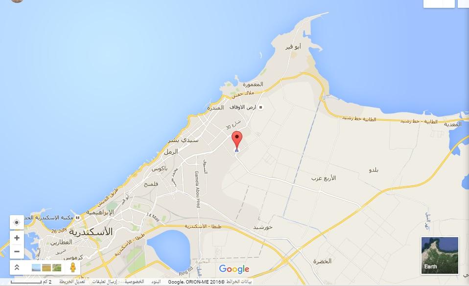 خرائط جوجل ـ طريق الإسكندرية مطروح