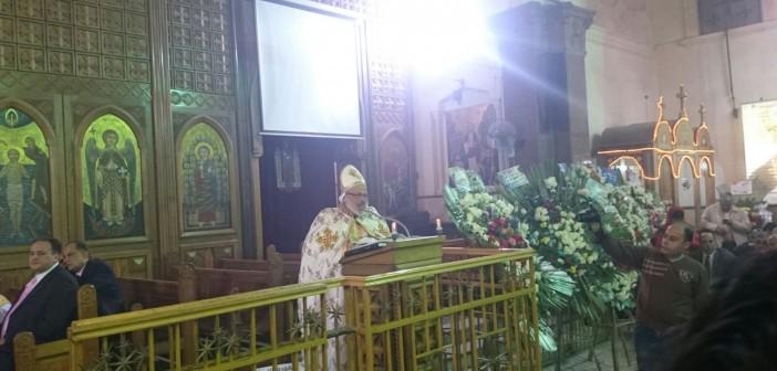 بالصور.. احتفال كنيسة مريم العذراء في دمياط بأعياد الميلاد بحضور المحافظ