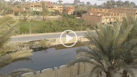 ▶| فيديو.. بعد النشر على «شارك».. تطهير مصرف المريوطية
