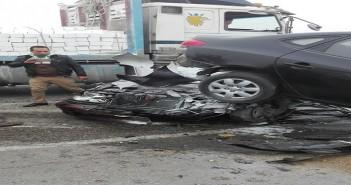تصادم عشرات السيارات بطريق الجيش قرب الكريمات (مصرع 12 وإصابة 22)