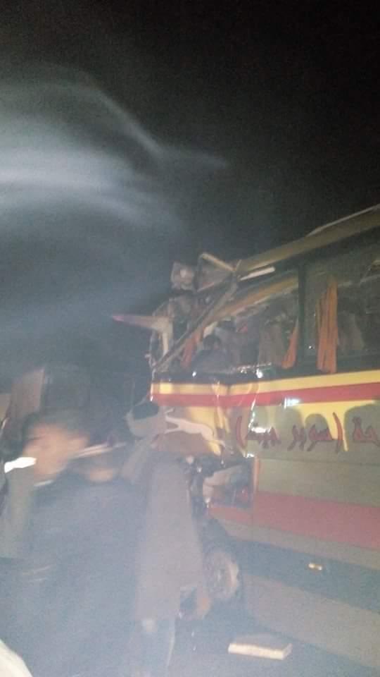 سقوط ضحايا في انقلاب أتوبيس متجه من سوهاج للقاهرة