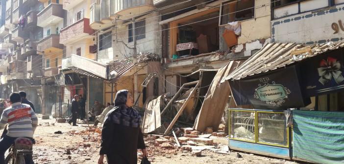 📷| بالصور.. آثار انفجار ثلاجة فواكه بالمحمودية (6 مصابين في الحادث)