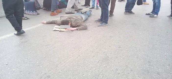 بالصور.. مصرع شخص وإصابة سيدة لدى عبورهما «الدائري» قرب «كايرو فستيفال»