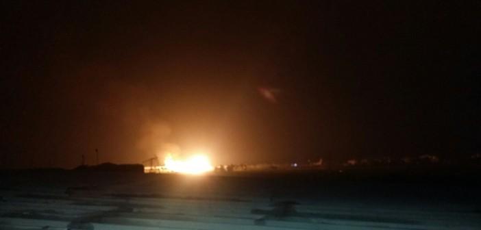 📷| شاهد.. الصور الأولى لانفجار خط الغاز بدمياط