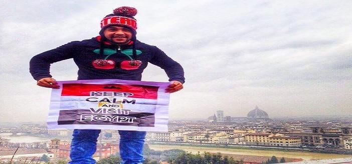 بالصور.. رجل أعمال شاب يخوض مبادرة فردية للترويج للسياحة في مصر