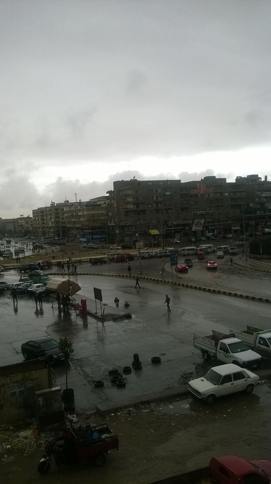 أمطار وأجواء غائمة تغطي مدينة 6 أكتوبر