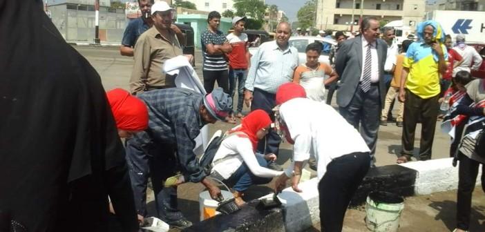 بالصور.. انطلاق حملة تجميل شربين ضمن مبادرة «حلوة يا بلدي» بالدقهلية
