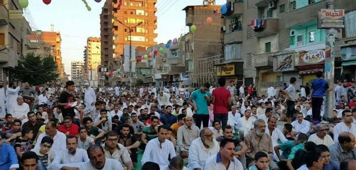 🐑 بالصور.. آلاف المصلين يؤدون صلاة عيد الأضحى بشربين