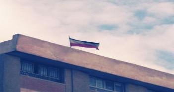 مدرسة تعلق علم مصر مقلوبا فى صقر قريش