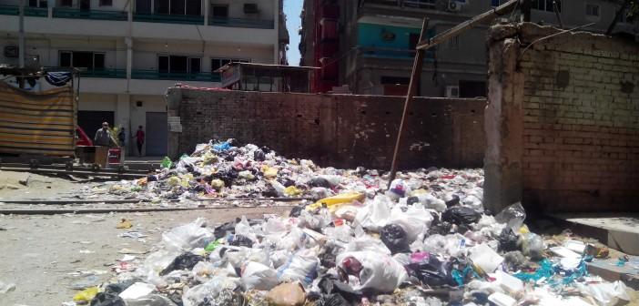 مطالب برفع القمامة بمنطقة السد العالي بحي السلام (صور)