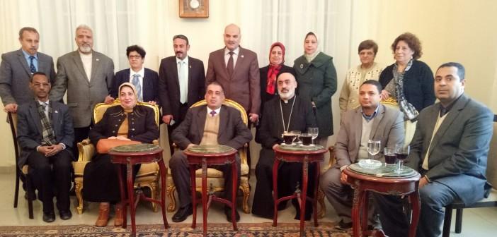 وفد من «تعليم» الإسكندرية يزور بطريركية الأرمن الأرثوذكس للتهنئة بعيد الميلاد