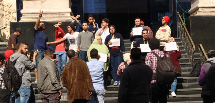 ▶| بالفيديو.. وقفة احتجاجية أمام «الصحفيين» لرفض «انتهاكات» الشرطة