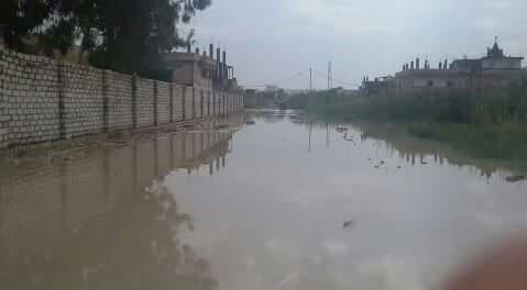 بالصور.. «أبو تلات» بالعجمي تغرق في الأمطار والمياه الجوفية منذ بدء الشتاء