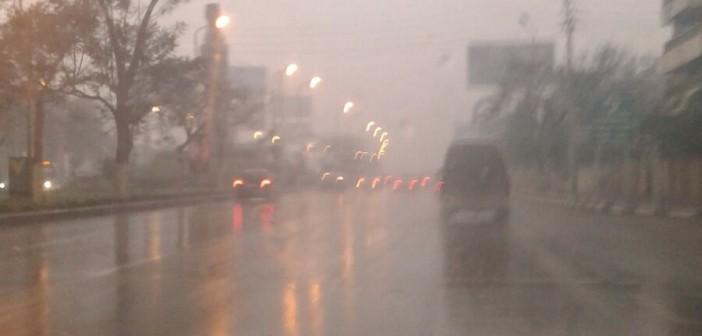 📷| أمطار غزيرة في شارع صلاح سالم