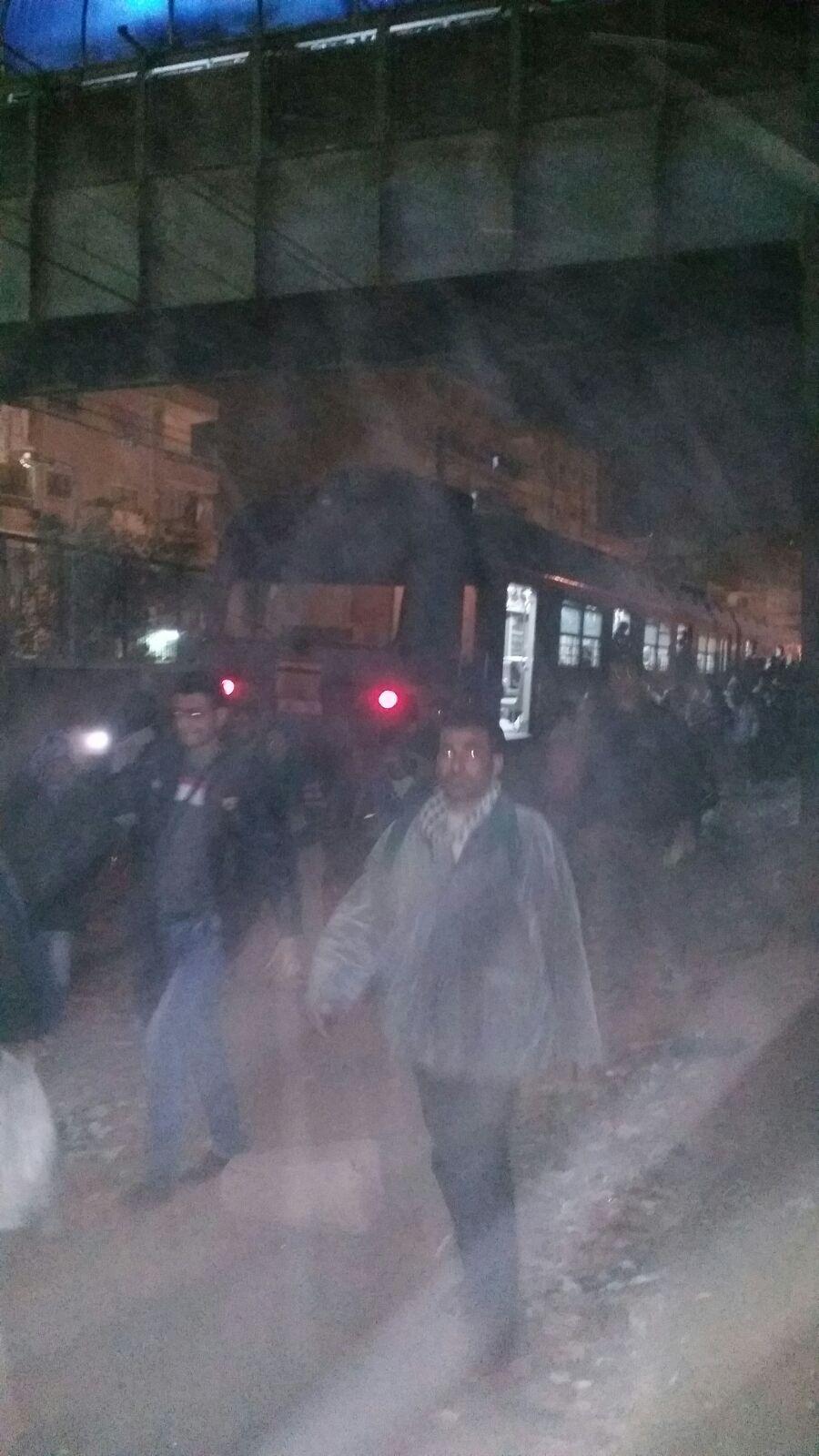 تواصل أزمة الزحام في محطات مترو بخط المرج ـ حلوان